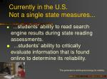currently in the u s not a single state measures