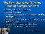 the new literacies of online reading comprehension15