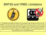 brfss and yrbs limitations