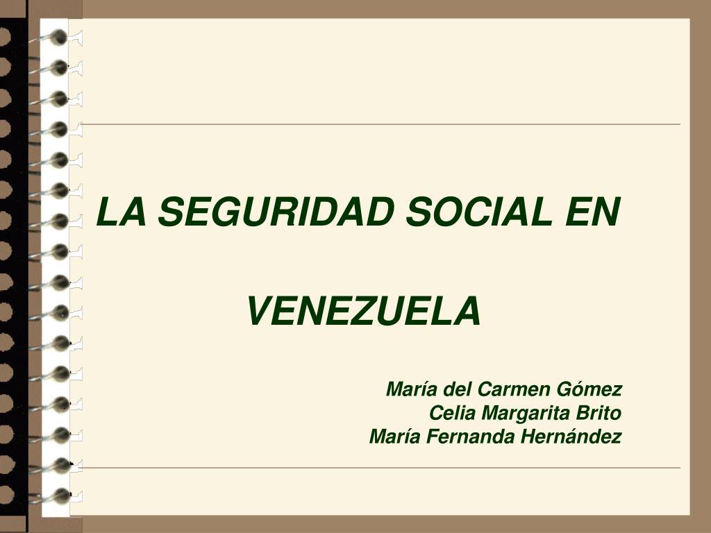 la seguridad social en venezuela l.