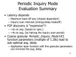 periodic inquiry mode evaluation summary