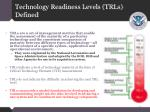 technology readiness levels trls defined