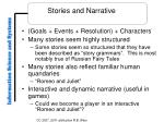 stories and narrative
