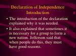 declaration of independence introduction