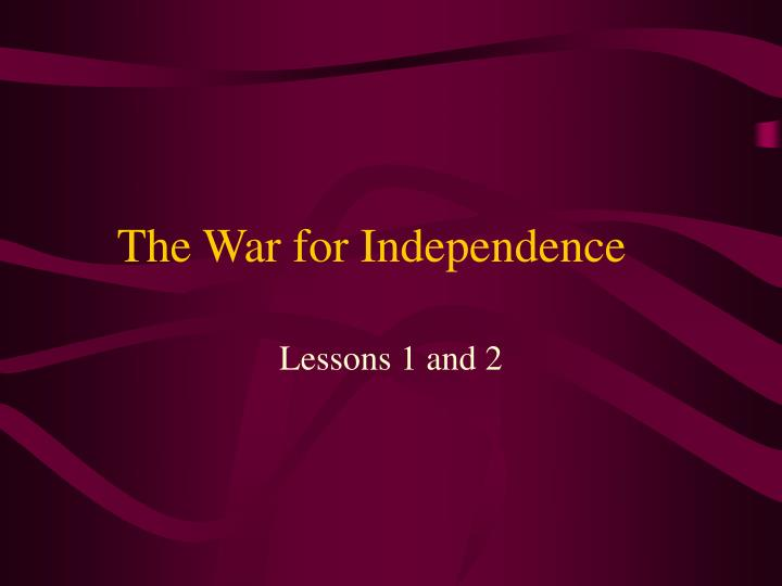 the war for independence n.