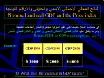 nominal and real gdp and the price index