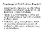 baselining and best business practices