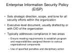 enterprise information security policy eisp