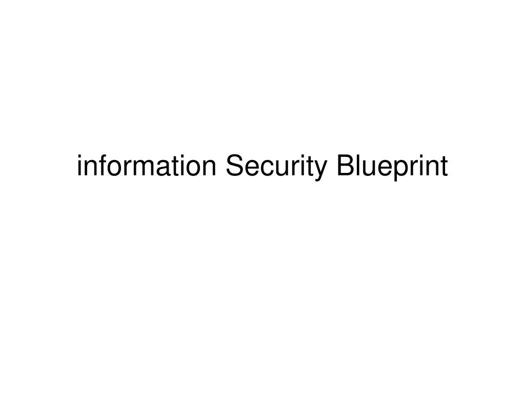 information security blueprint l.