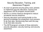 security education training and awareness program