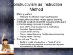 constructivism as instruction method