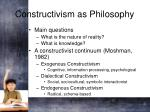 constructivism as philosophy
