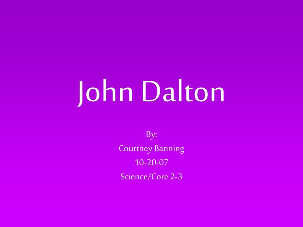 john dalton l.