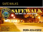 safe walks