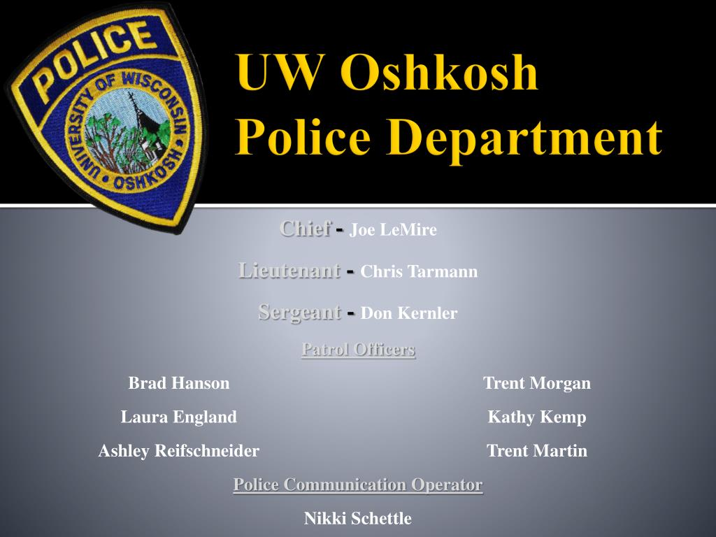 uw oshkosh police department l.