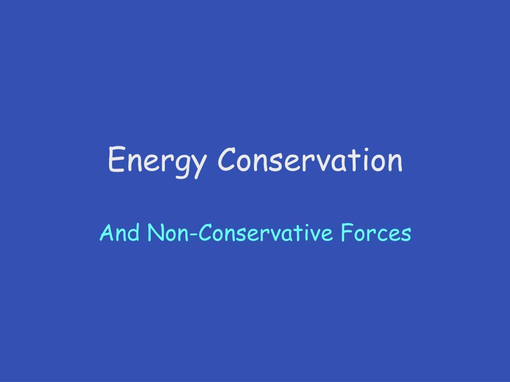 energy conservation l.