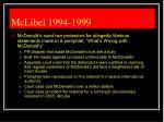 mclibel 1994 1999