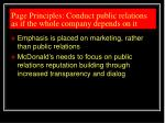 page principles conduct public relations as if the whole company depends on it