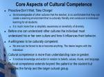 core aspects of cultural competence