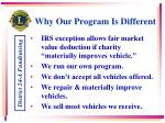 why our program is different