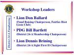 workshop leaders
