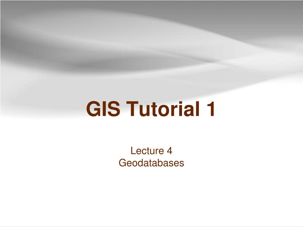 gis tutorial 1 l.