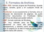 5 formatos de archivos