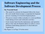 software engineering and the software development process