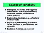 causes of variability