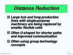 distance reduction