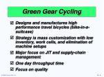 green gear cycling