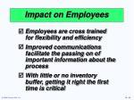 impact on employees