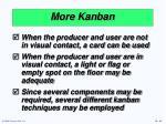 more kanban