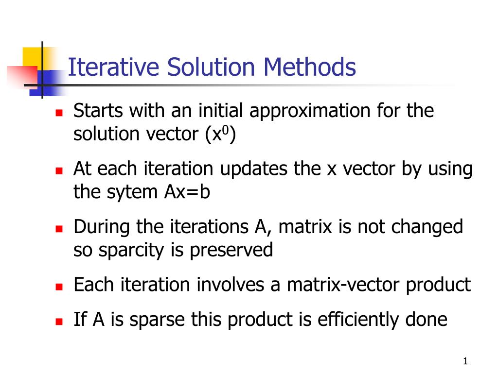 iterative solution methods l.