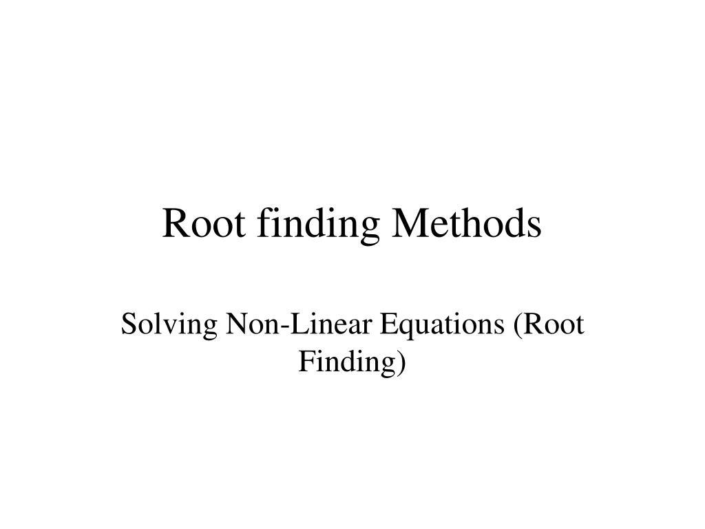 root finding methods l.