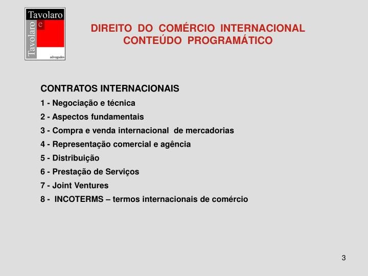 Direito do com rcio internacional conte do program tico3