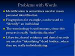 problems with words