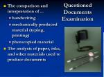 questioned documents examination