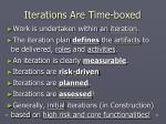 iterations are time boxed