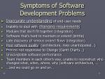 symptoms of software development problems