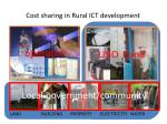 cost sharing in rural ict development