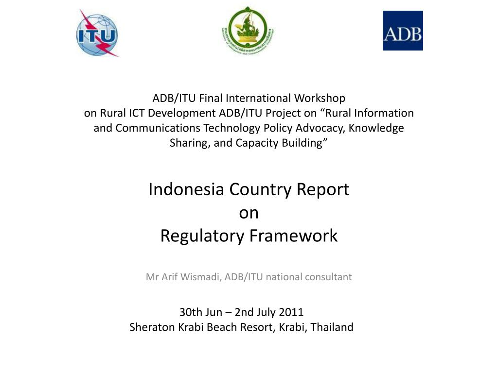 indonesia country report on regulatory framework l.