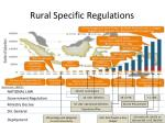 rural specific regulations