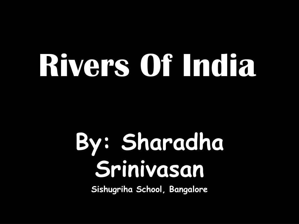rivers of india l.