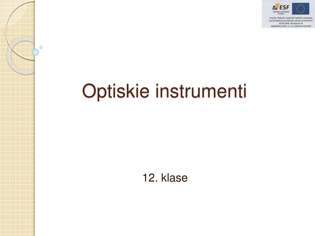 optiskie instrumenti l.