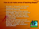 how do we make sense of teaching deeply