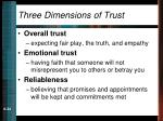 three dimensions of trust