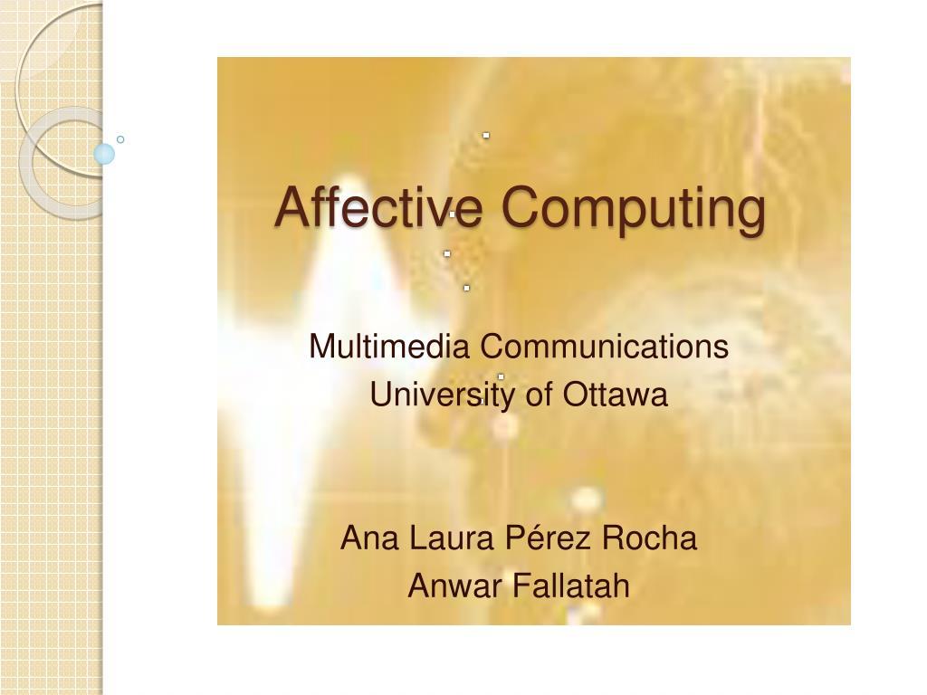 affective computing l.
