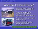 what role for road pricing