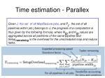 time estimation parallex19